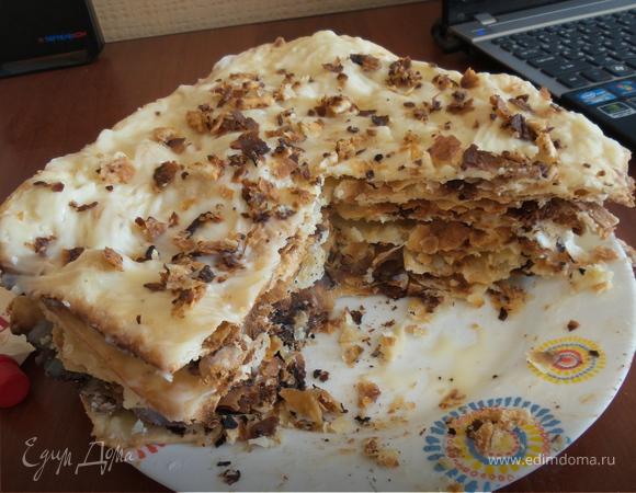 наполеон торт рецепт из слоеного теста с заварным кремом с фото