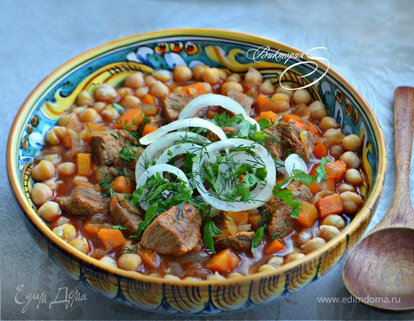 Густой татарский суп «Нохутлы аш»