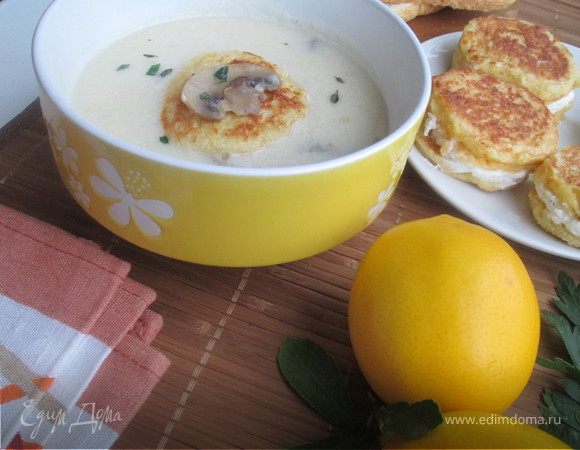 Крем-суп с равиоли