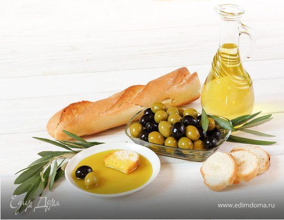 Меню в оливковой гамме