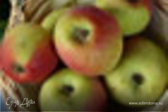 Начинка из яблок. Яблоки помыть, очистить от кожуры и сердцевины и нарезать средними кубиками. Выложить яблоки на разогретую сковороду с небольшим количеством, 2-3 ст. ложки, растительного масла. Обжаривать, постоянно помешивая, на среднем огне, периодически добавляя сахар песок. Цедру лимона натереть на мелкой терке и добавить к яблокам, добавить остатки сахара и посыпать молотой корицей. Когда яблоки станут мягкими и дадут сок, влить в сковороду коньяк и аккуратно поджечь. Подождать пока коньяк выгорит, после чего снять с огня, слегка остудить и выложить на тесто.