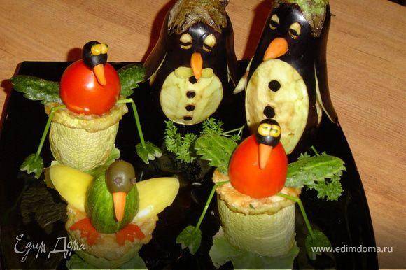 Вот все готово и птичий рынок загомонел! Желаю Всем насладиться вкусной овощной закуской!!!