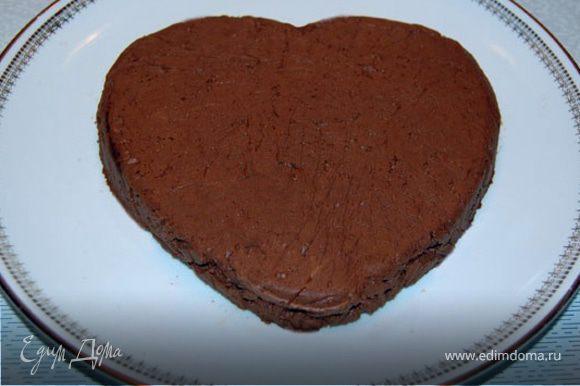 После застывания выложить крем на блюдо и посыпать какао. Приятного аппетита вам и вашим любимым!:)