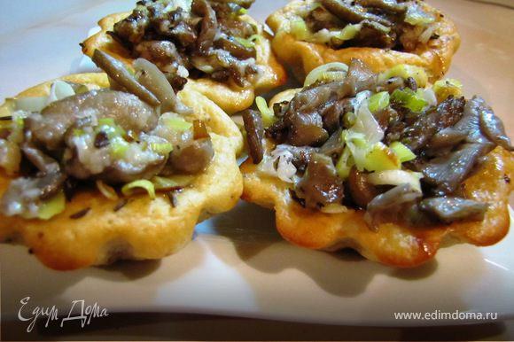 Выкладываем грибы в тарталетки...и не желаете перекусить?