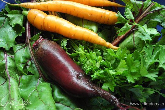 Подготовить овощи - хорошенько промыть.