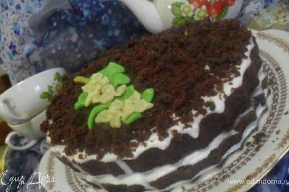 Убрать торт пропитаться в холодильник, лучше на ночь, так он намного нежнее, но можно и не ждать.Приятного аппетита, дорогие мои!:)