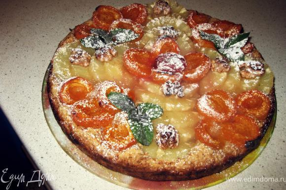 Готовый тартик выложить на тарелку и посыпать сахарной пудрой. * можно украсить мятой ПРИЯТНОГО АППЕТИТА!!