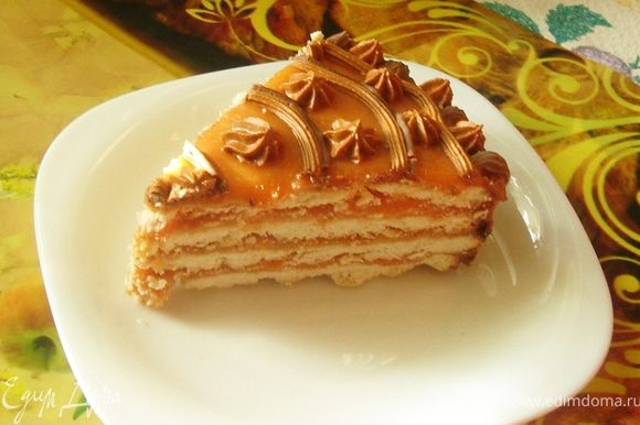 Ставим торт в холодильник и на следующий день угощаем им гостей))))