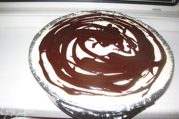Вылить на торт