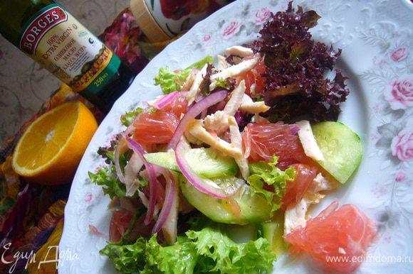 Мне больше понравился салат с заправкой №1.