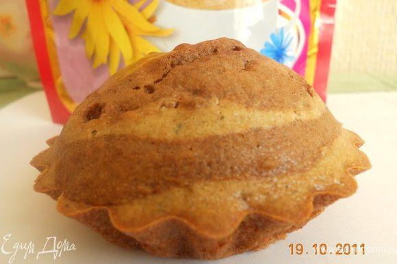 выпекаем наши кексы 25-30 минут при 180 гр и приятного чаепития!