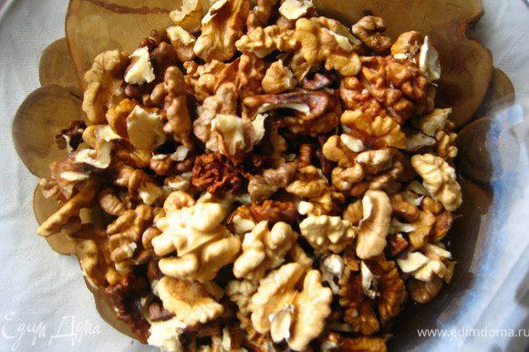 орехи тоже пробить блендером в грубую крошку