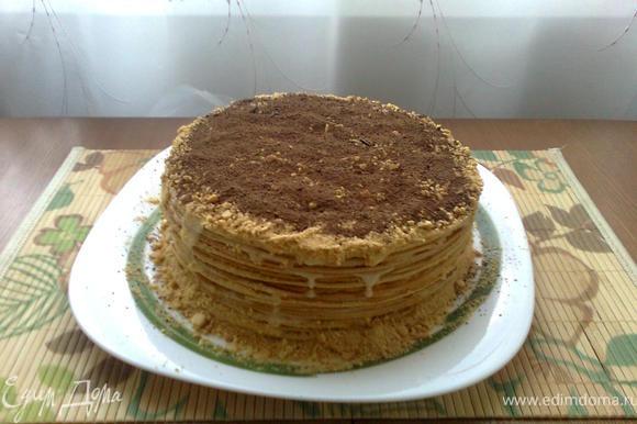 Лучше всего готовить торт вечером, что бы скушать его утром )), ему нужно как минимум дать пропитаться 4-5 часов. Приятного аппетита!