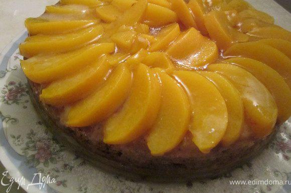 На десерт постный торт с персиком