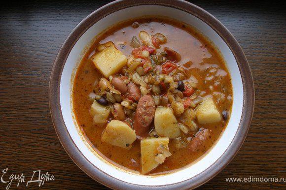 Перед самой подачей можно сделать домашние крутоны и положить в суп, - это нереально вкусно, уж поверьте!
