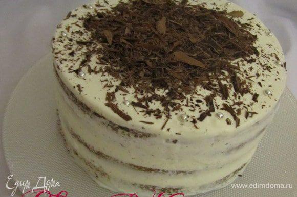 Дальше по желанию, покрыть взбитыми сливками или помадкой или же растопленным шоколадом.