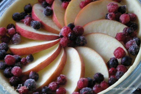 Смородину рассыпать на яблоки (не размораживая),