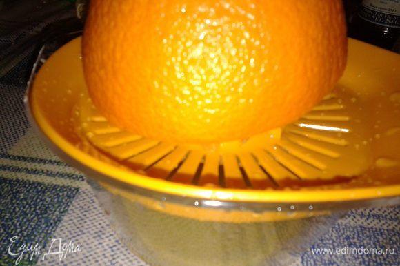 выжать сок из апельсинов-стакан