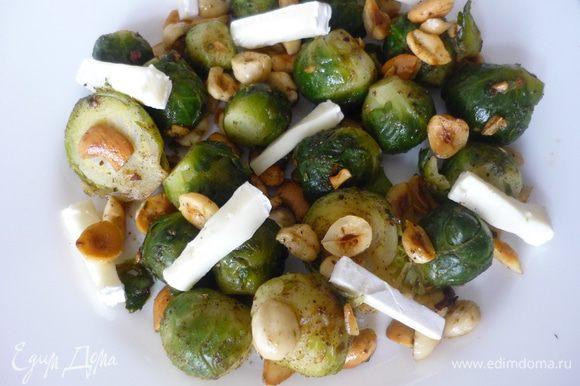 Соединить капусту и ореховое масло. Кушать салат горячим.