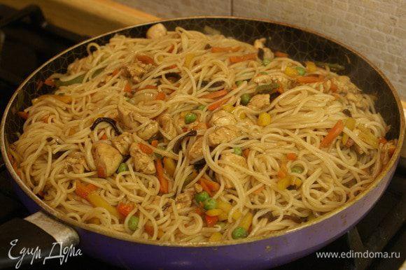 Китайская лапша с курицей рецепт с фото