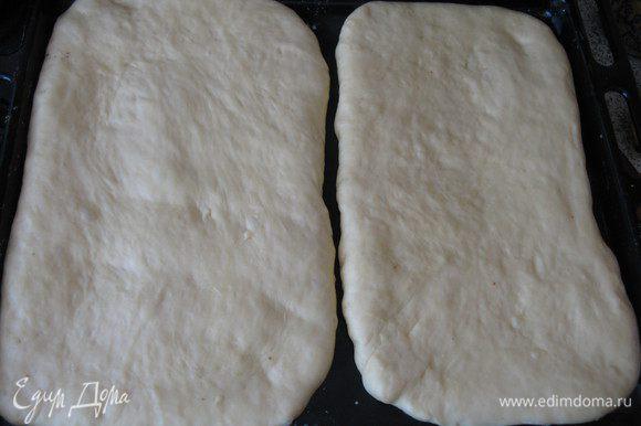 Тесто сделать как в рецепте http://www.edimdoma.ru/retsepty/39499-kapustno-rybnyy-drozhzhevoy-pirog Только заменить молоко на воду. раскатать,оставить подходить.