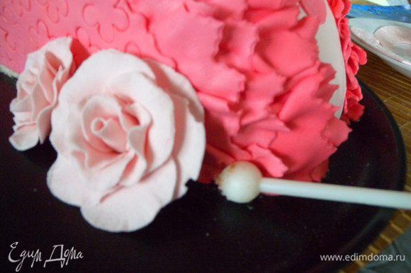 ... Заранее я делала розы