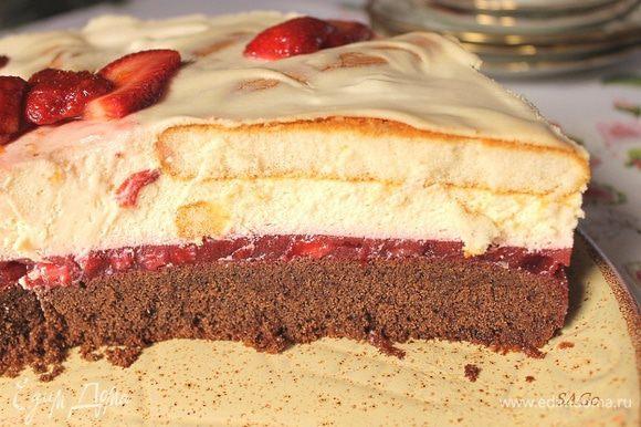 Торт таял просто на глазах!:))
