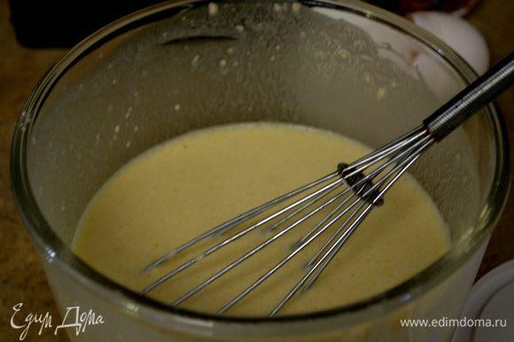 Разогреем духовку до 200гр. Смешаем все вместе: яйца,молоко, мука,сахар,цедра и соль в блендаре или вручную.