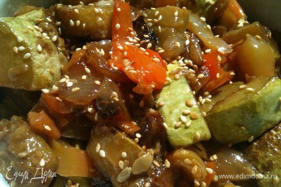 Такие овощи вкусны и в горячем и в холодном виде, как отдельное блюдо и как гарнир. Приятного аппетита!