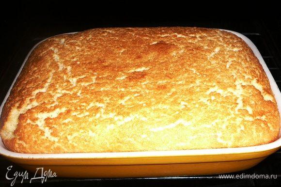 Пирожное очень хорошо поднимается в духовке. После выпечки оно может слегка опасть... Это не брак))) На вкус это никак не влияет...