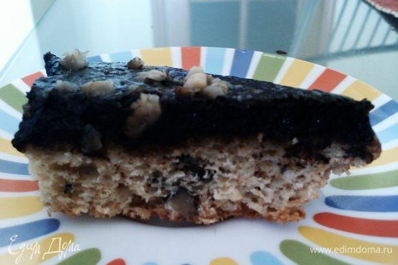 Глазурь остудить и полить пирог :)