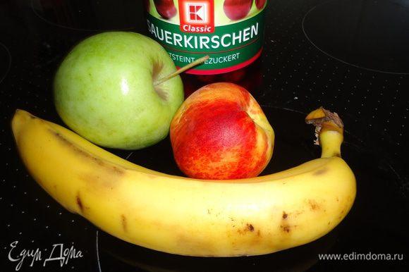 Разогреем духовку до 180 гр. и займемся фруктами.
