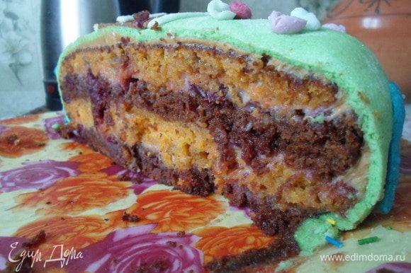 Тортик получился очень вкусным. Приятного аппетита!!!