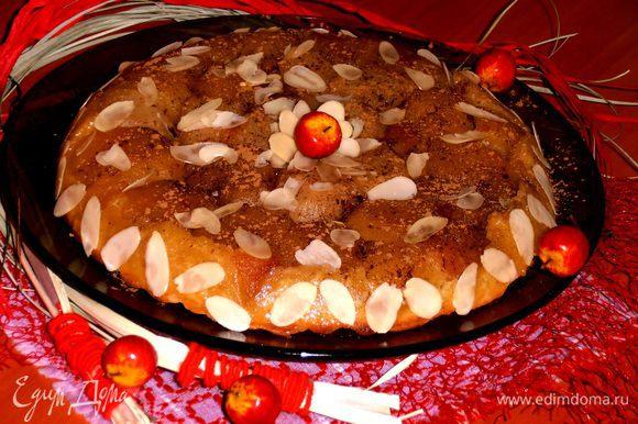 Ну и декоративные яблочки опять меня выручают при оформлении!)))