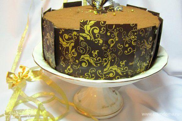 Покрыт кремом или украсить шоколадом.