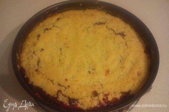 Оставить пирог в форме до полного остывания