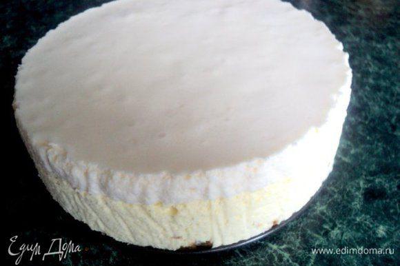 Освободить торт от формы, снять бумагу с боков.