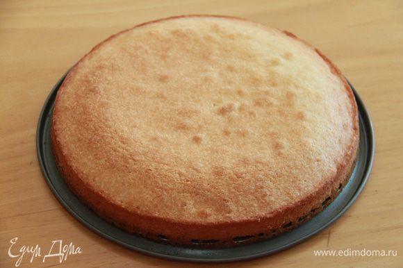 и запекайте в предварительно нагретой 175*С духовке 30-40 минут. Тест на степень готовности - деревянной зубочисткой. Дайте пирогу немного остыть, прежде чем вынимать пирог из формы на блюдо.