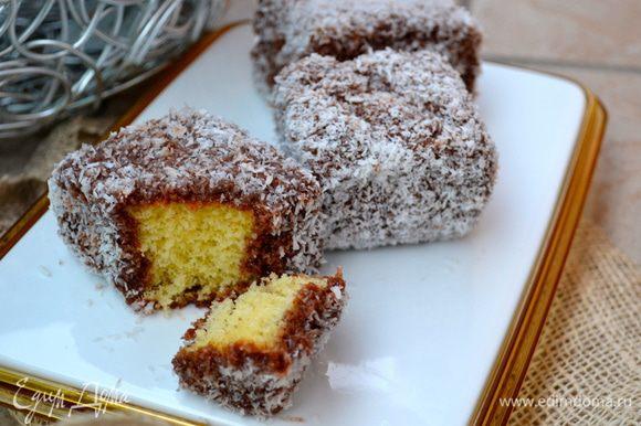 Вот такие вот пирожные Ламингтон! ))