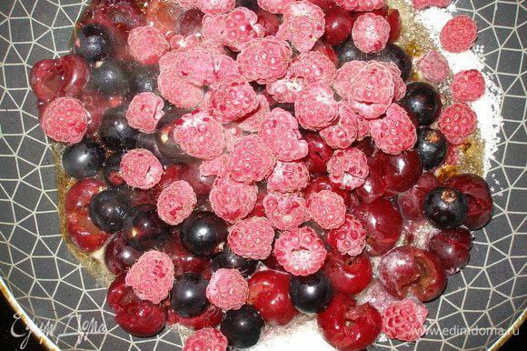 ....и сразу же ягоды.