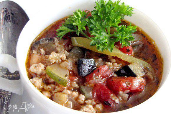 Овощное рагу по-провански готово. Приятного аппетита!