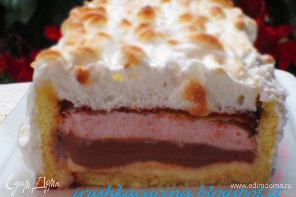 """А ещё я пекла роскошный торт-мороженое от Нины ТОРТ-МОРОЖЕНОЕ """"АЛЯСКА"""" (BAKED ALASKA)http://www.edimdoma.ru/retsepty/53389-tort-morozhenoe-alyaska-baked-alaska!!! Нинуля, до сих пор все вспоминают это чудо!!!! Спасибо огромное за вкусный десерт"""