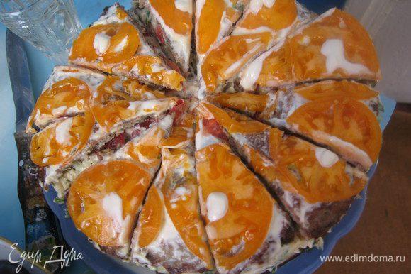 Закусочный торт от Ланы. Я не первая его приготовила и уверена не последняя. Очень вкусно! http://www.edimdoma.ru/retsepty/52314-zakusochnyy-baklazhannyy-tort