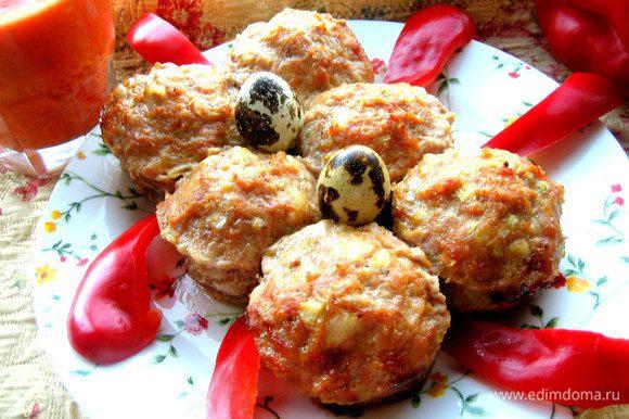 Украшаем овощами... Например, ломтиками болгарского перца)))