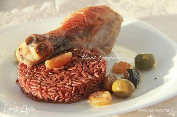 Подавать с любым гарниром, мы ели с красным рисом. Приятного аппетита! Buen provecho!