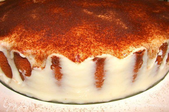 Освободить пирог от формы.