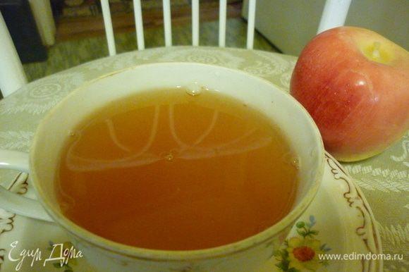Кисель получается приятный, ароматный, с яблочной кислинкой и вкусом Рождества.
