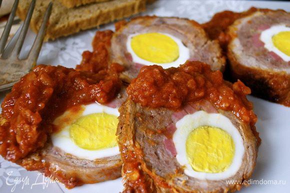 """P.S. Кстати, могу подсказать, что блюдо у Вас получается """"два в одном"""", практически! ))) Так как оставшийся томатный соус (очень вкусный!) можно подать с отваренной пастой! Дети от такой пасты с соусом были в восторге! )))"""