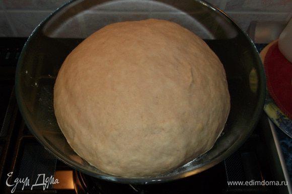 Мое тесто после 40 мин.