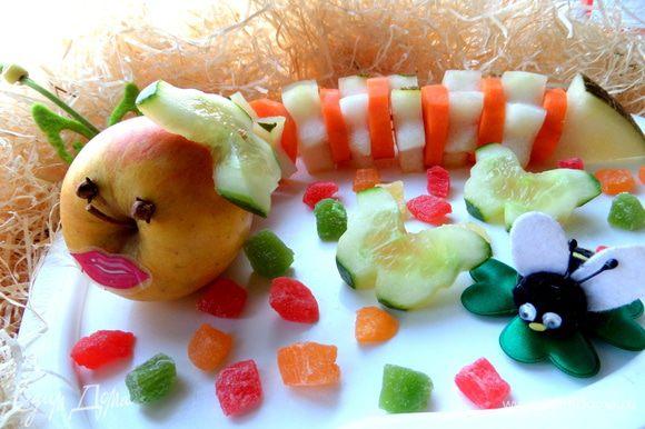 Малыши съедят с удовольствием дыню и полезную морковку тоже. )))